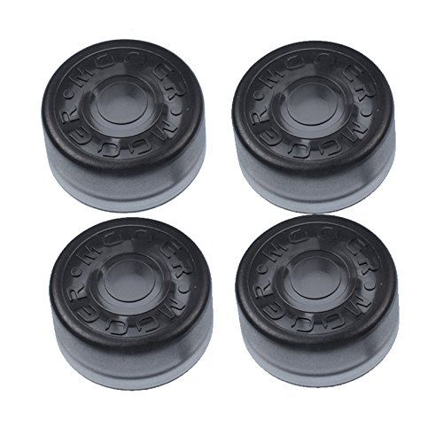 (GETMusic Mooer Plastic Bumpers Footswitch Topper Protector Cap For Guitar Effect Pedal Knob Pack of 4Pcs (Black x4))