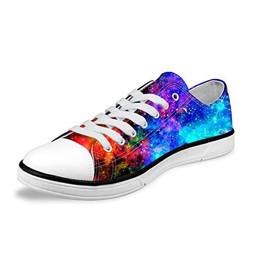 Per Te Disegni Alla Moda Galaxy Unisex Canvas Canvas Fashion Sneaker Casual Lace-up Scarpe Basse Basse Basse Galaxy 3