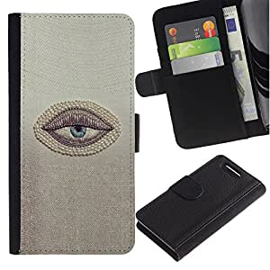 Sleepy Lazy Cansado minimalista Cínico- la tarjeta de Crédito Slots PU Funda de cuero Monedero caso cubierta de piel Para Sony Xperia Z3 Compact / Z3 Mini (Not Z3)