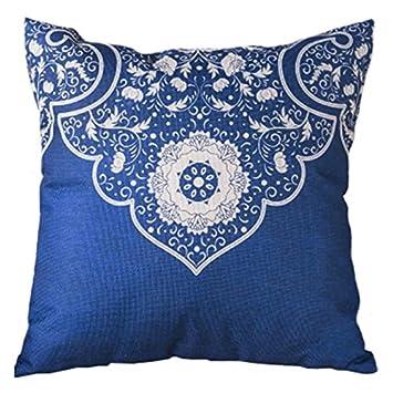 Amazon Sodialr Chinese Style Blue Background White Flower