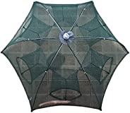 SOONHUA Fishing Net, Quickly Opened Fishing Bait Traps Portable Folding Automatic Landing Net with Zipper for
