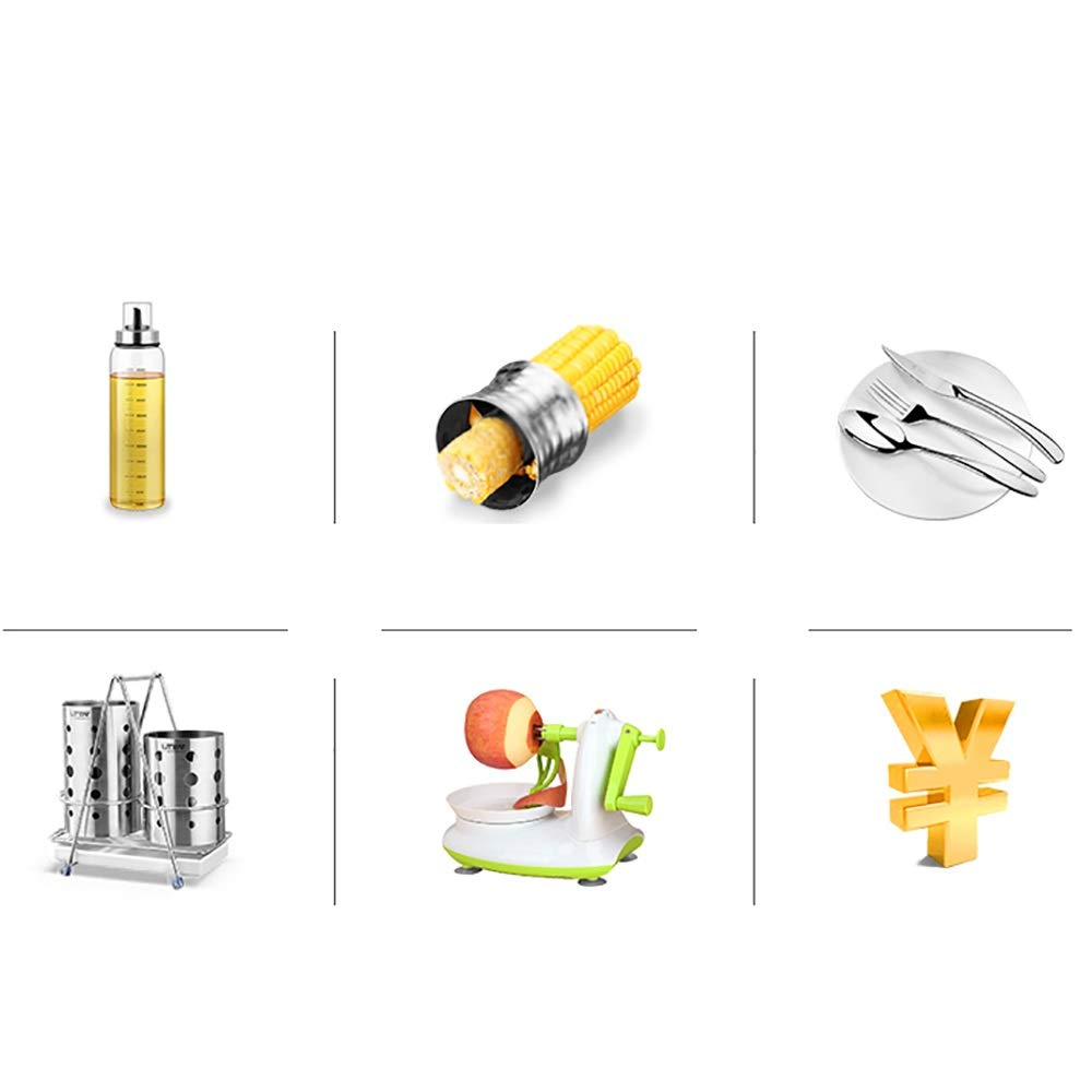 Stainless steel Housewares Under Shelf Storage Basket, kitchen shelf storage,39~45.5 cm (Size : B) by Guoqing (Image #6)