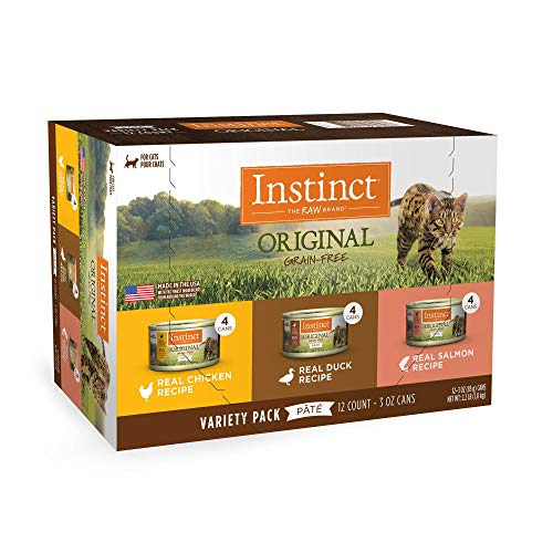 Instinct Original Grain Free Recipe Variety Pack Wet Canned Cat Food by Nature's Variety, 3 oz, Count of 12