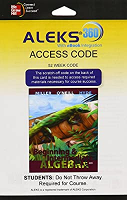 ALEKS 360 Access Card (52 weeks) for Beginning & Intermediate Algebra