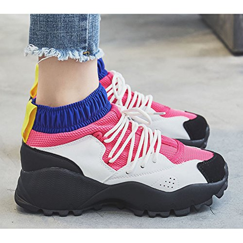 Red para Zapatillas walking Zerlar de mujer nordic Yx6d7