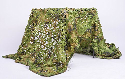 Review NINAT Camo Netting 6.5x10ft Woodland Camouflage Net For Camping Military Hunting Shooting Sunscreen Nets