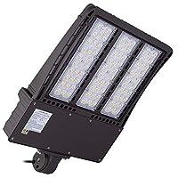 1000LED LED Shoebox Pole Light 300W 33,600Lm, 1000W HID/HPS Equal, 5000K, AC100-277V Input Voltage, Waterproof IP65, for Street Area, Parking Lot Lights