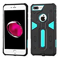 Asmyna Cell Phone Case for Apple iPhone 7 Plus - Blue/Black
