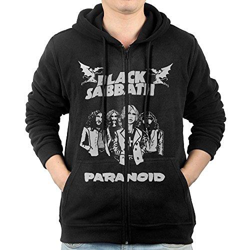 [Celets Black Sabbath 4 Men's Funny Long Sleeve Zipper Hoodie XXL Black] (Forrest Gump Kid Costume)