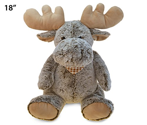 - Puzzled Super Soft Sitting Moose Plush, 18