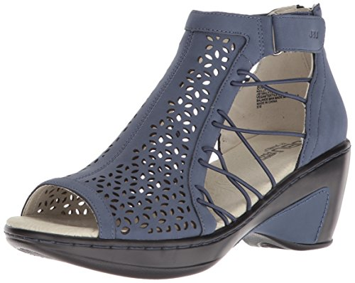 Women's by Sandal Navy Wedge Jambu JBU Nelly ES8w4xq
