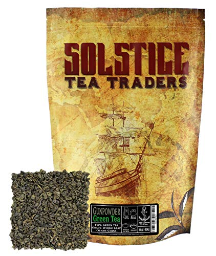 wder Green Tea One Pound, Pinhead Rolled Loose Leaf Gunpowder Green Tea, One Pound ()