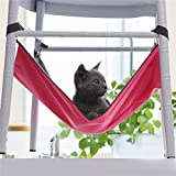 Hot Sale! Cute Pet Cat Dog Cage House Hammock Soft Bed Animal Hanging Pupply Oxford Cloth Hammock (L - Red)