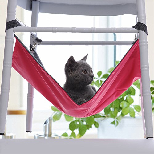 Hot Sale! Cute Pet Cat Dog Cage House Hammock Soft Bed Animal Hanging Pupply Oxford Cloth Hammock (L, - For Cats Glasses For Sale