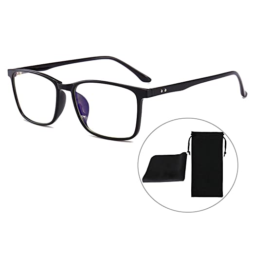 5e026ab8e584 Amazon.com: Classic Design Blue Light Blocking Glasses Gaming Unisex  Eyeglasses Non-Prescription UV Filter Screen Protection Eyewear,Man/Women:  Clothing
