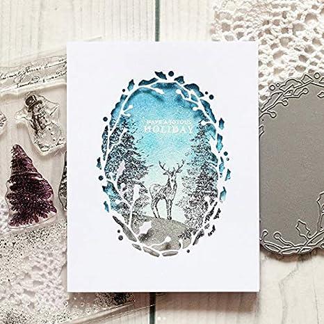 New Metal Cutting Dies Scrapbook Card Embossing DIY Oval Frame Template Stencil