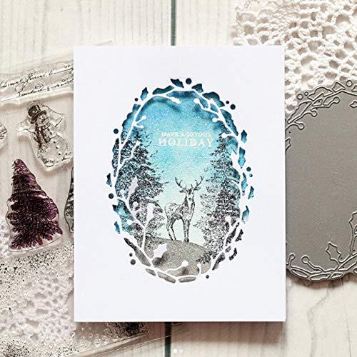 (Letmefun Oval Frame Cutting Dies Metal Cutting Dies Stencils New 2019 Stencils for DIY Scrapbooking DIY Paper Cards Craft Making Craft Decoration 104MMx76MM)