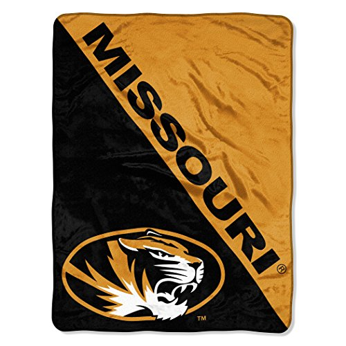 The Northwest Company Officially Licensed NCAA Missouri Tigers Halftone Micro Raschel Throw Blanket, 46