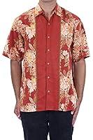 Tommy Bahama Men's Batik La Chique Silk Shirt in Spice, M