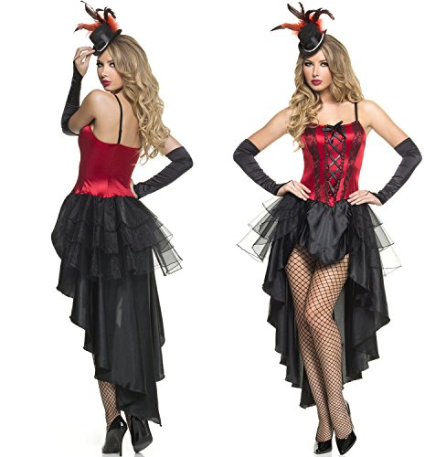 Burlesque Beauty Costumes (Mystery House Women's Burlesque Beauty, Red/Black, Small)
