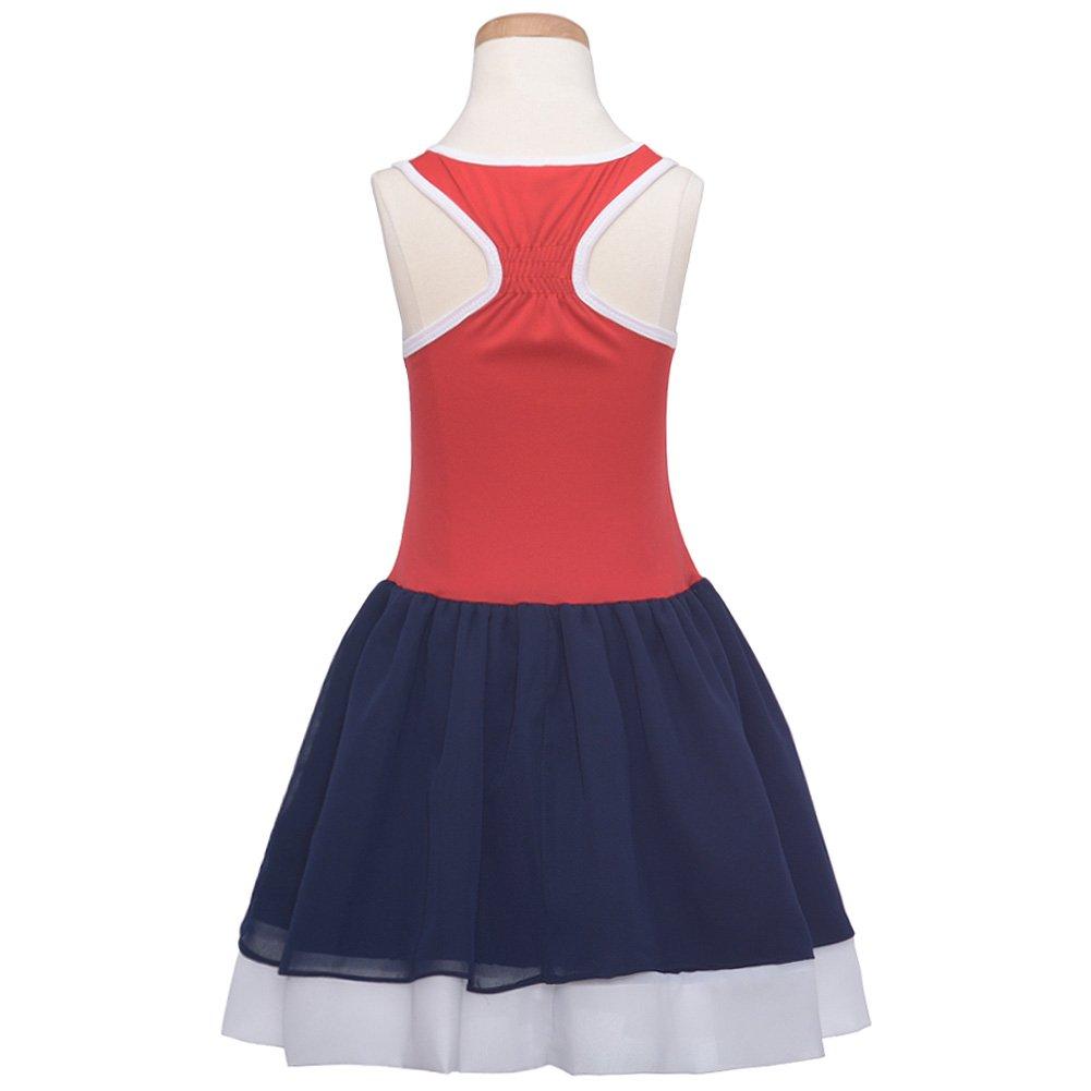 ac0f71943f Amazon.com  Bonnie Jean Girls Sequin American Flag Red White Blue Patriotic  Sun Dress  Clothing