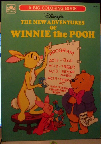 THE NEW ADVENTURES OF WINNIE THE POOH A BIG COLORING BOOK 1989