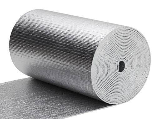 Thermal Aluminum Foil Foam Insulation- (2 Ft X 50 Ft Roll) Industrial Grade Radiant Barrier Great For Soundproofing, Automotive Insulation, Weatherproofing Roofs, Floors, Windows, Garages, RV's, More!