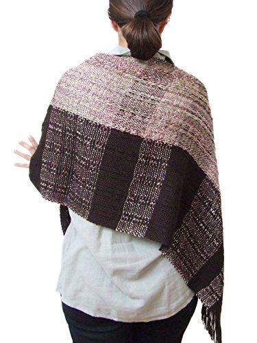 Handwoven poncho shawl women wool cape large wool shawl brown shawl wool shawl shrug wool coat woven wrap wool poncho wool cape fall winter