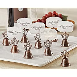 "120 ""Lustrous Leaf"" Kissing Bell Place Card Holder"