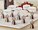 48 Lustrous Leaf Kissing Bell Place Card Holders