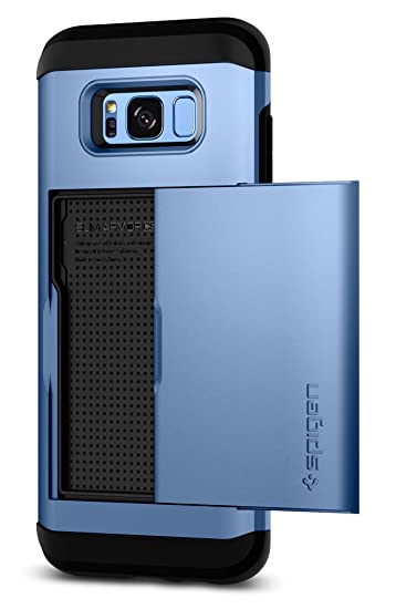 newest 6e7ed f48b1 Spigen Slim Armor CS Designed for Samsung Galaxy S8 Case (2017) - Coral Blue