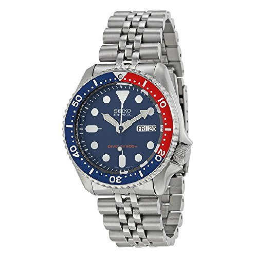 Seiko Men's SKX009K2 Diver's Analog Automatic Stainless Steel Watch by Seiko