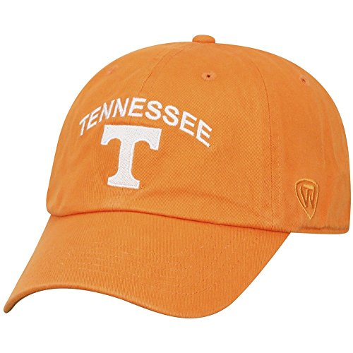 Top of the World NCAA Tennessee Volunteers Men's Adjustable Hat Relaxed Fit Team Arch, Light -