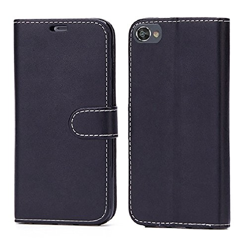 (BlackBerry Motion Leather Case,Yiakeng fashion Shock Absorbing Dual Layer Full-body Protective Phone Cases Cover Shell For BlackBerry Motion(Krypton) (Black))