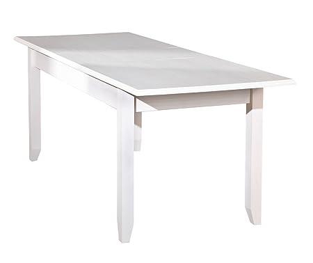 Tavolo Quadrato Antico Allungabile.Inter Link Tavolo Da Pranzo Allungabile Pino Massiccio Verniciato