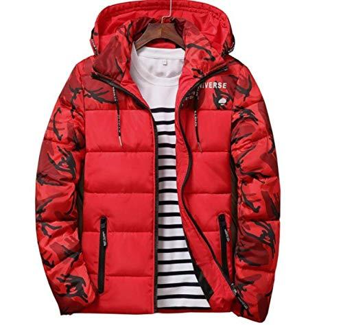 Hombres Deportes Impreso Rojo Abrigos Ocio De Estampado Battercake Capucha Chaqueta Abrigo Camisola Invierno Crossover Los Cómodo Con R7ntxpq