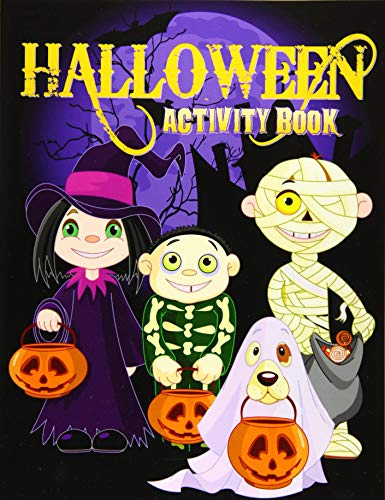 Halloween Colouring Pages Online (Halloween Activity Book: Over 70+ Halloween Activities & Coloring Pages for Kids: Spooktacular Halloween Gift for Kids: Letter Tracing, Mazes, Word ... Puzzles (Holiday Coloring Books) (Volume)