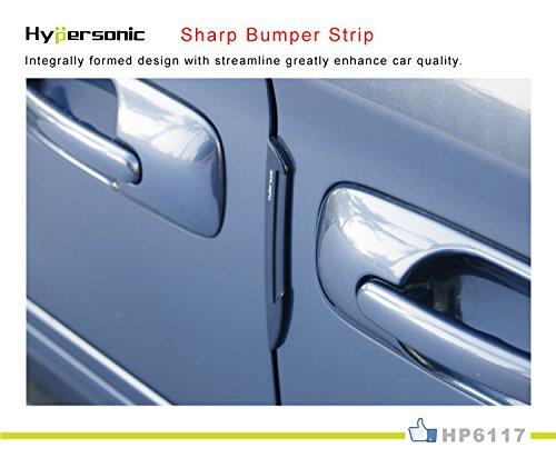 Amazon.com: Hypersonic 2 Pcs Set Black Car Door Edge Guard Bumper Protector Molding Trim: Automotive