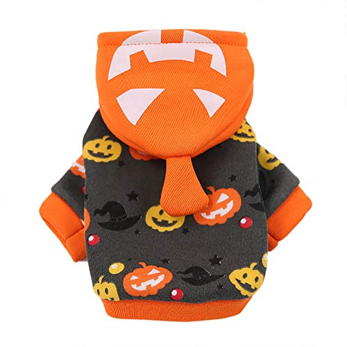 GOTOCO. Classical Halloween Pet Dog/Cat Hoodie Clothes – Ultra Plush Pet Hooded Costumes for Puppies & Kittens, Cozy…