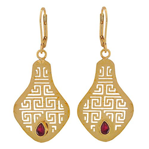 Maayra Filigree Earrings Maroon Bronze Dangler Drop Dailywear Jewellery by Maayra