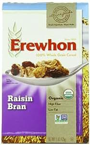Erewhon Raisin Bran, Organic, 15-Ounce Boxes (Pack of 6)