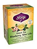 YOGI Green Tea Blueberry Slim Life Herbal Supplement Tea Bags, 16 Ea, 6 Piece