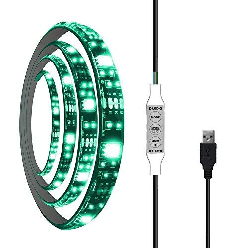 Price comparison product image UOUNE Bias Lighting for HDTV 60 LEDs TV Backlight 3.28Ft 5050RGB Ambient TV Lighting USB LED Backlight Strip for Flat Screen/HDTV/LED Desktop/PC Monitor Background Lighting