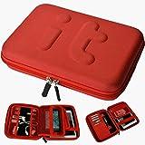 G&Ttraveler Hard EVA Electronics Accessories Case Universal Electronics Accessories Travel Organizer/Hard Drive Case/Cable organizer - Red