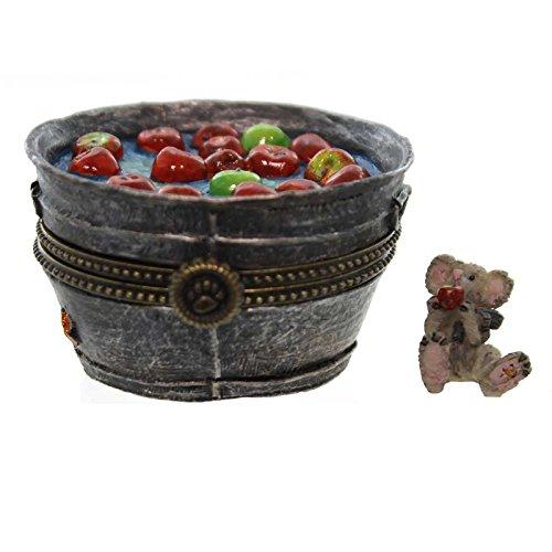 Boyds Bears Resin GRANNY SMITH'S APPLE BOBBIN B 4022271 Halloween Treasure Box New