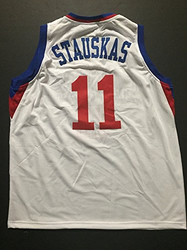 Unsigned Basketball (Unsigned Nik Stauskas Philadelphia White Custom Basketball Jersey Size XL No Brands/Logos)