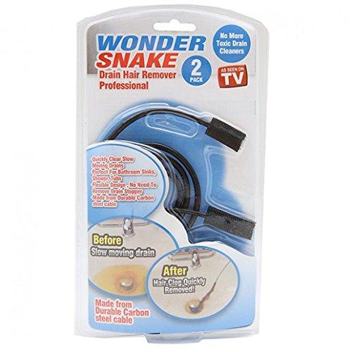 ATB G-51067 Wonder Snake Drain Hair Remover, Silver