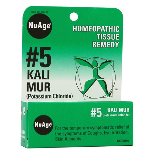 Cheap NuAge #5 Kali Muriaticum Tablets, Natural Relief of Coughs, Eye Irritation, Skin Ailments, 125 Count