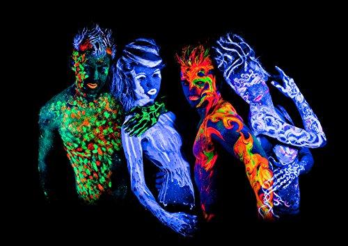 Neon Face and Body Paint Set of (8) .50oz Tubes UV Blacklight. 45dadde196