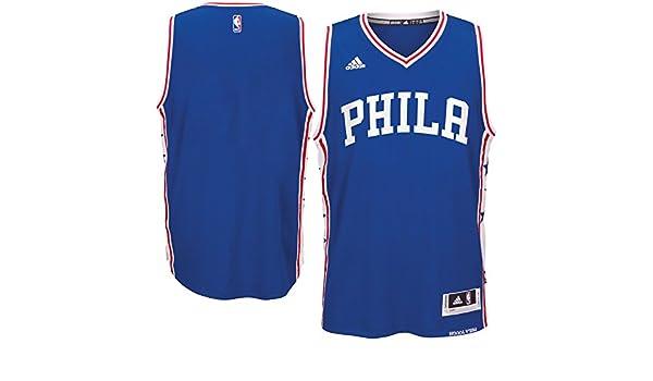 5361b9417 ... germany amazon philadelphia 76ers blue youth wordmark swingman blank  jersey x large 18 20 clothing 1d4d6